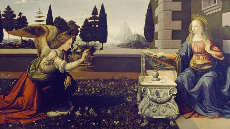 Da Vinci's Annunciation