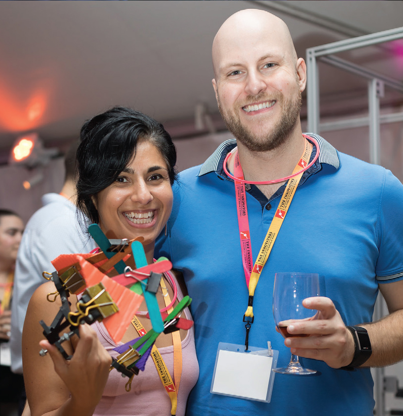 A photo of a couple at an Innovators event.