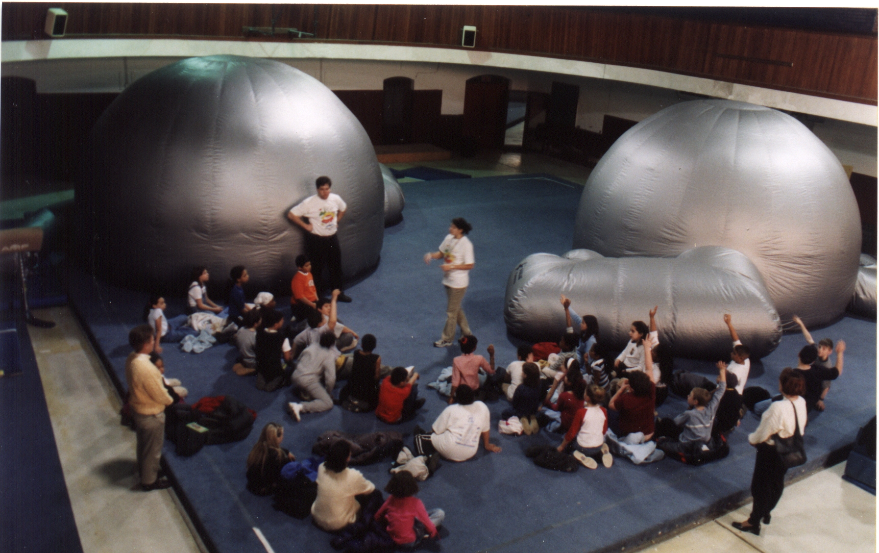 Check out the Museum of Science's portable planetarium!