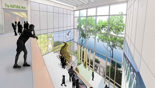 Rendering of the Museum lobby