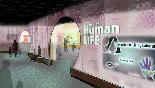 Rendering of the Hall of Human Life