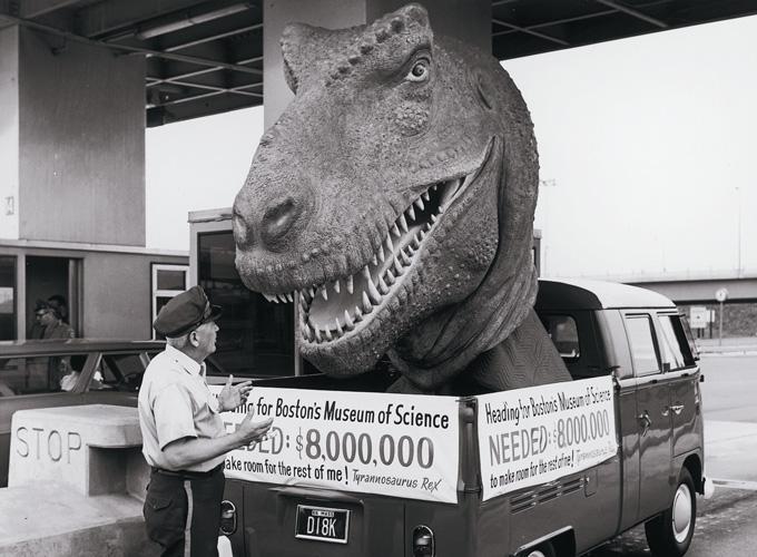 T-Rex Head in Vehicle