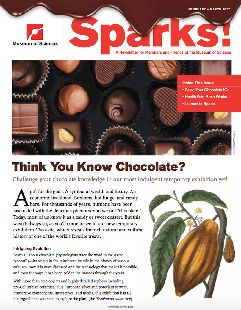 February/March Sparks magazine cover