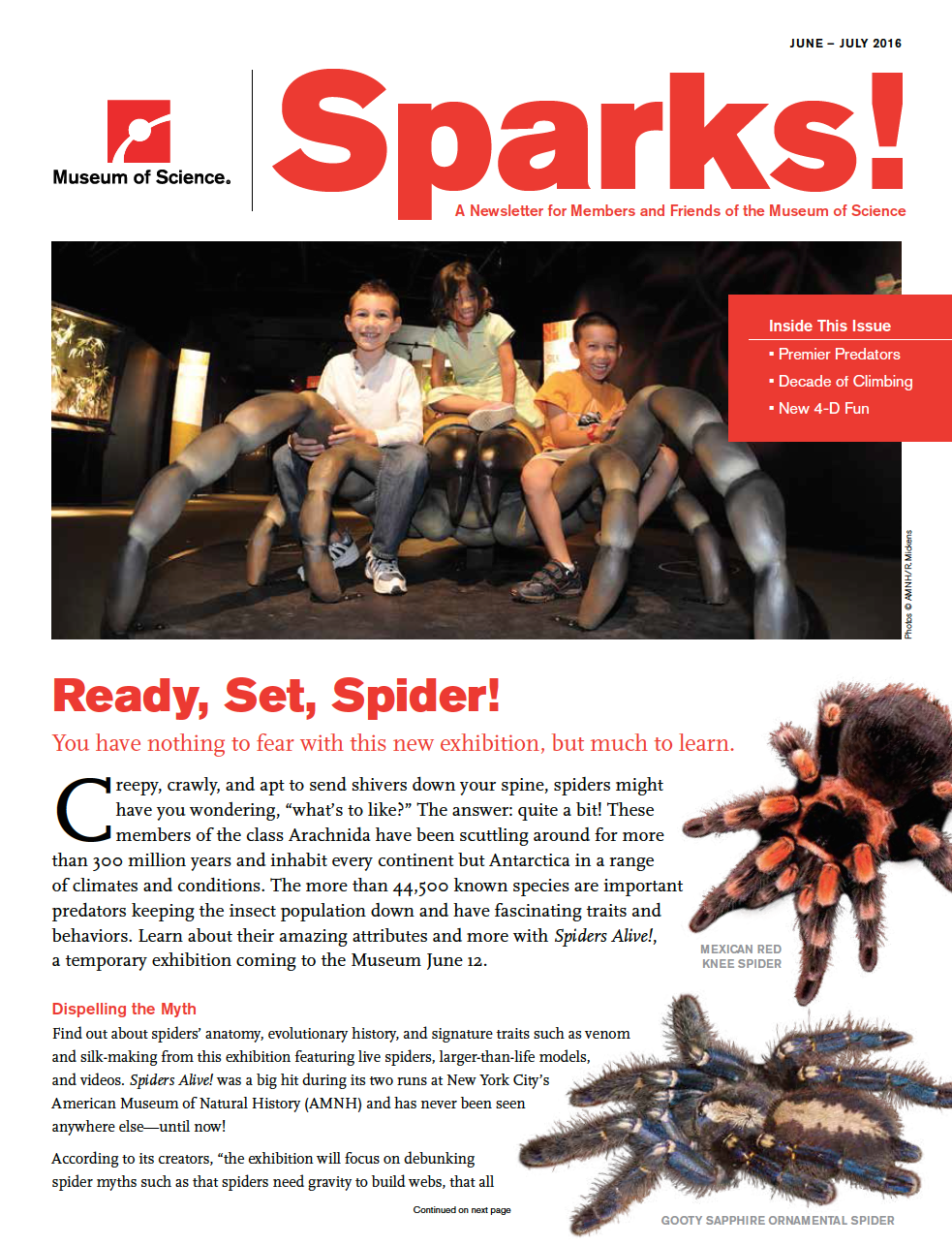 June/July Sparks magazine cover