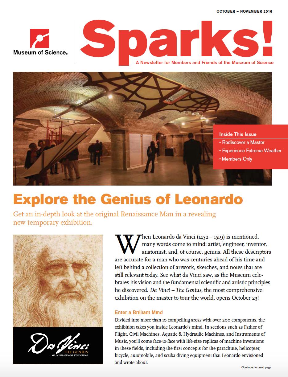 October/November Sparks magazine cover