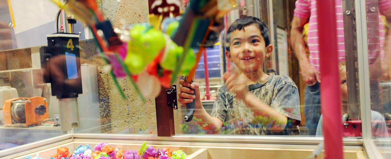 Boy at Design Challenges drop-in activity