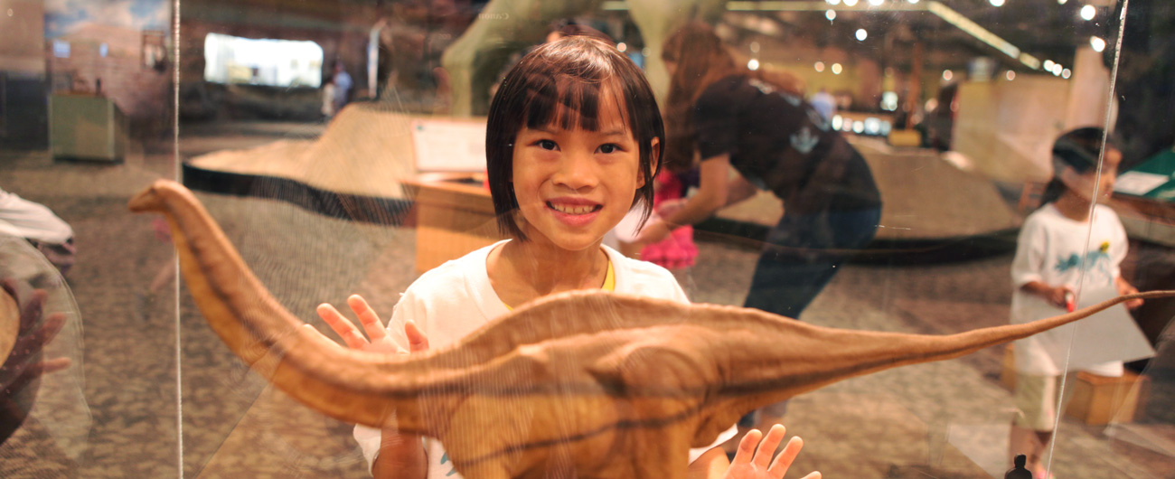Girl in the Dinosaurs: Modeling the Mesozoic exhibit