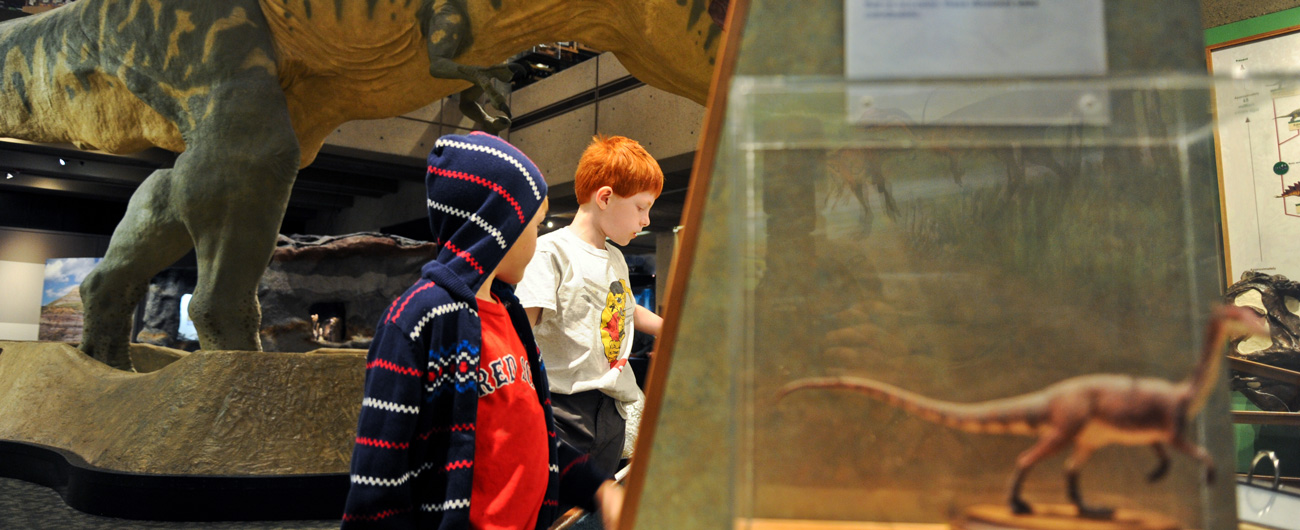 Boys in the Dinosaurs: Modeling the Mesozoic exhibit