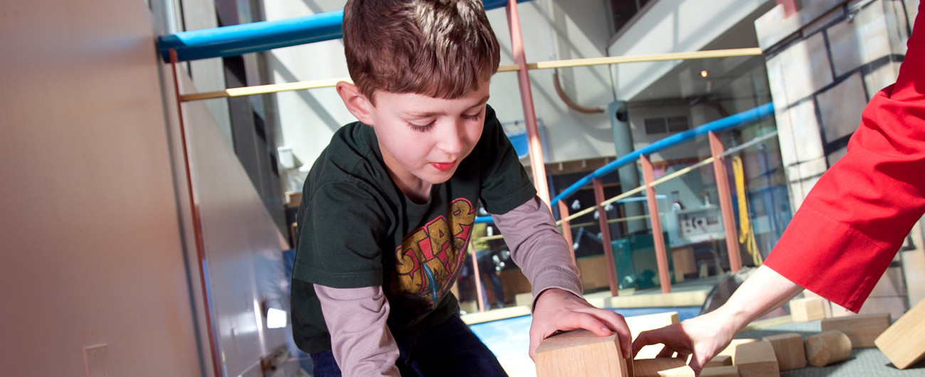 Boy in the Discovery Center