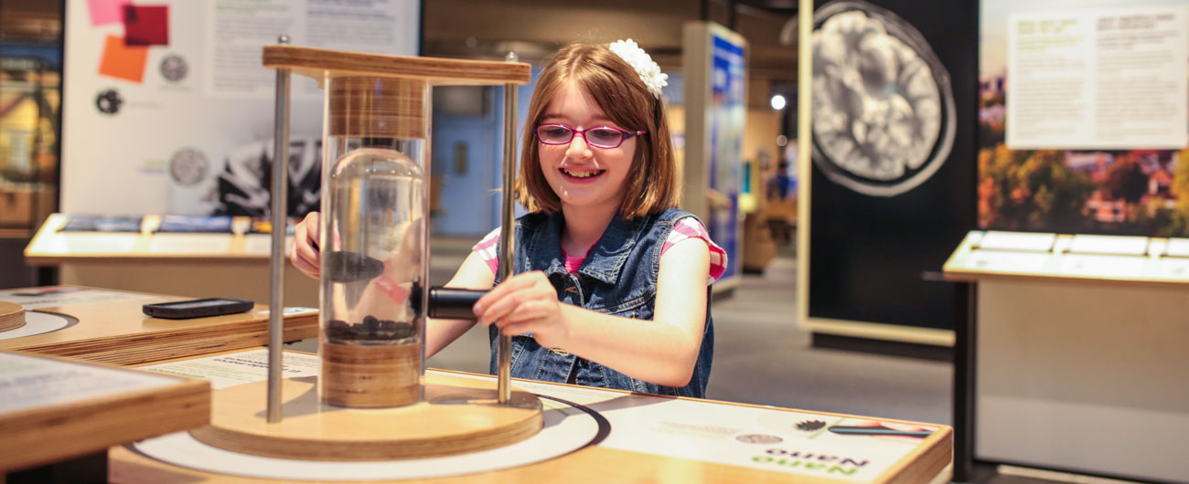 Girl in Nanotechnology exhibit