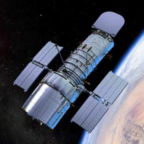 Artist's rendering of the hubble telescope