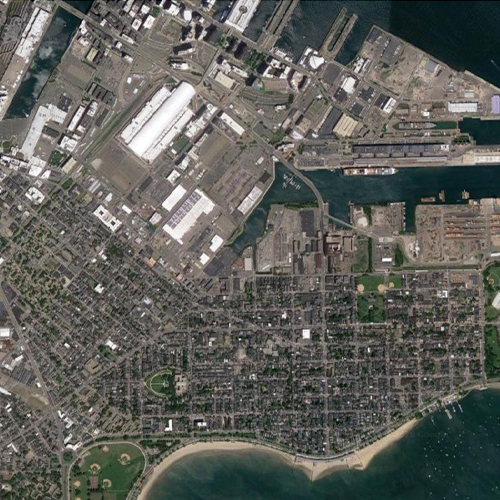 Satellite photo of a section of Boston