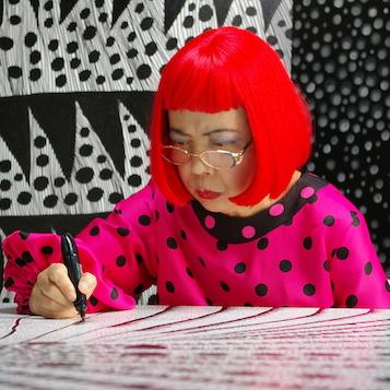 Yayoi Kusama drawing