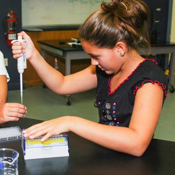 Girl in laboratory
