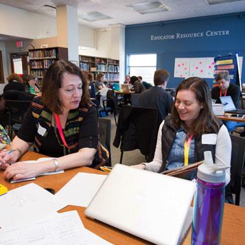 Teachers in the Educator Resource Center