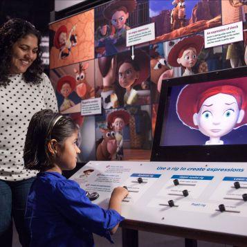 Pixar Jessie face rigging interactive