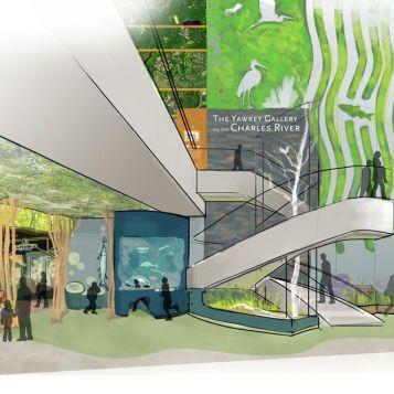 Artist's rendering of the gallery.