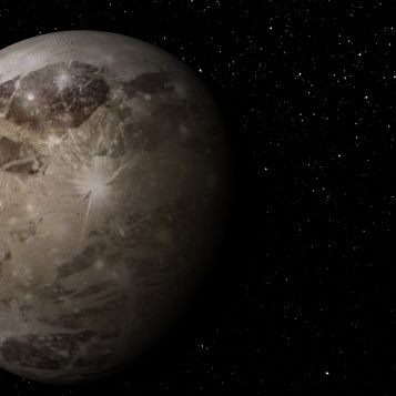 Ganymede's ancient surface resembles that of our own Moon.