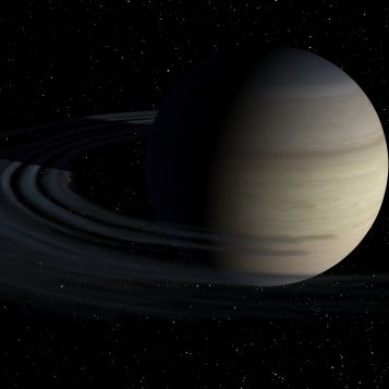 Saturn's rings may have formed from an ancient moon ripped apart by Saturn's gravity.