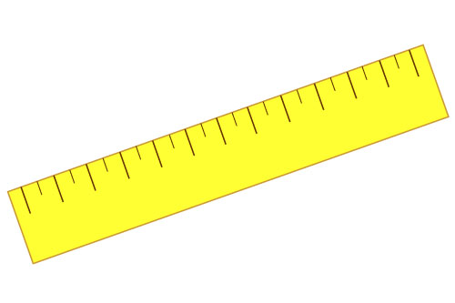One foot ruler