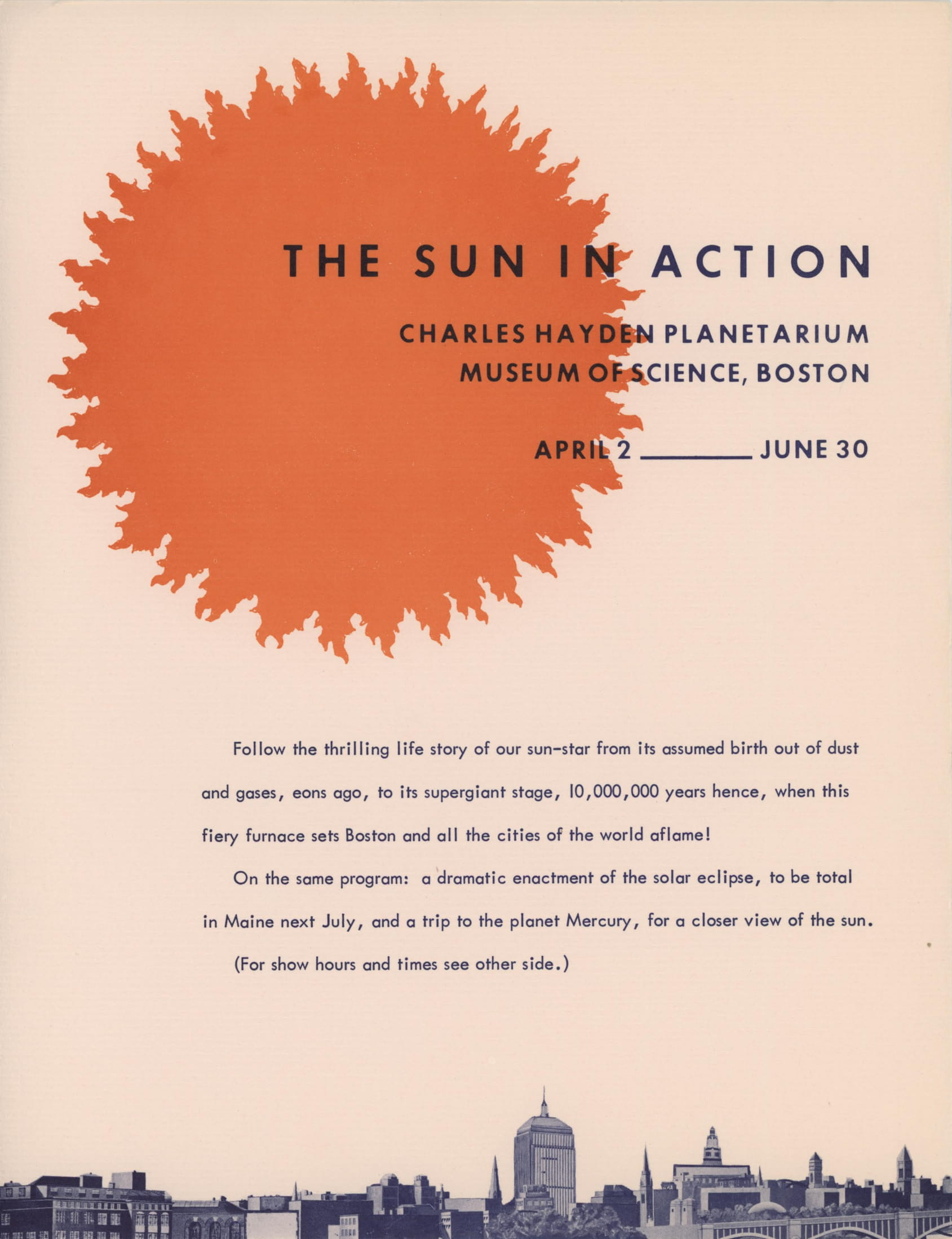 The Sun in Action eclipse postcard.